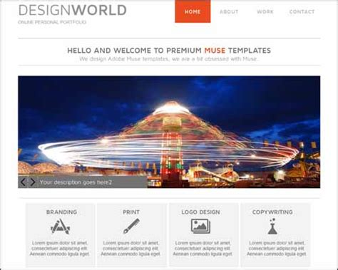 latest premium and free adobe muse templates