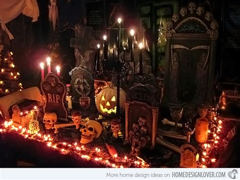 decorated homes for halloween 15 spooky halloween home decorations home design lover