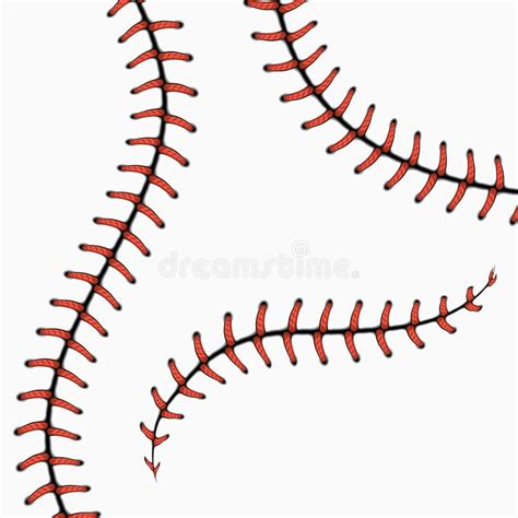 stitches illustration baseball stitches softball laces on white vector set