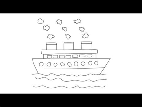 easy way to draw a boat how to draw a ship easy step by step drawing lessons for