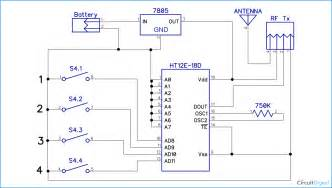 rf controlled robot project and circuit diagrams for rf transmitter and rf receiver