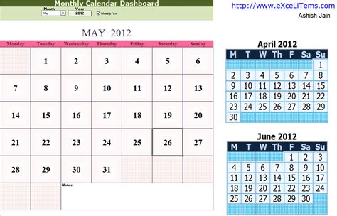 monthly calendar for planner calendar template 2016