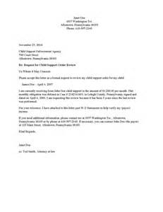 Letter For Child Support by Divorce Source Child Support Review Request Letter Payee