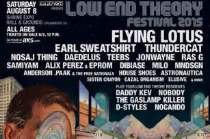 Flying Lotus Earl Sweatshirt Low End Theory Festival At Shrine Expo August 8