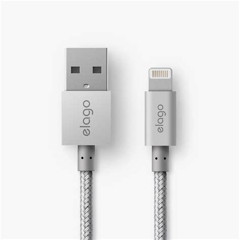 Lexcron Lightning Cable Led 1m Silver aluminum lightning cable for sync charge silver elago europe
