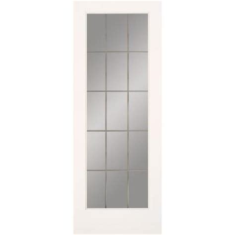frosted glass interior doors home depot feather river doors 30 in x 80 in 15 lite illusions