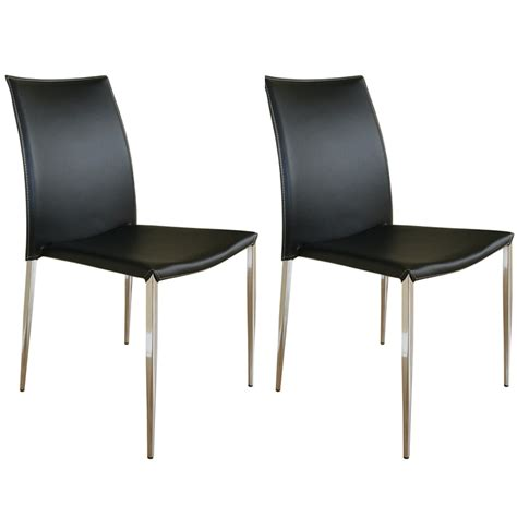 Cheap Leather Dining Chairs Wholesale Interiors Set Of Two Leather Dining Chairs Black Alc 1899 Black