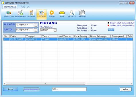 Software Program Aplikasi Kasir Toko Obat Obatan Toko 1d 1 software penjualan dan stok barang software