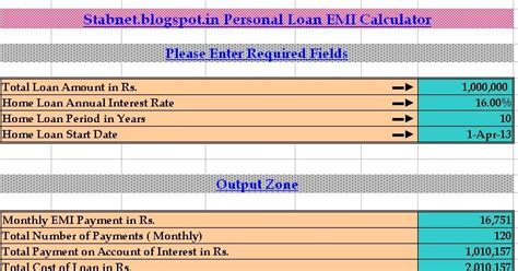 housing loan emi calculator india emi calculator calculate your home loan personal loan autos post