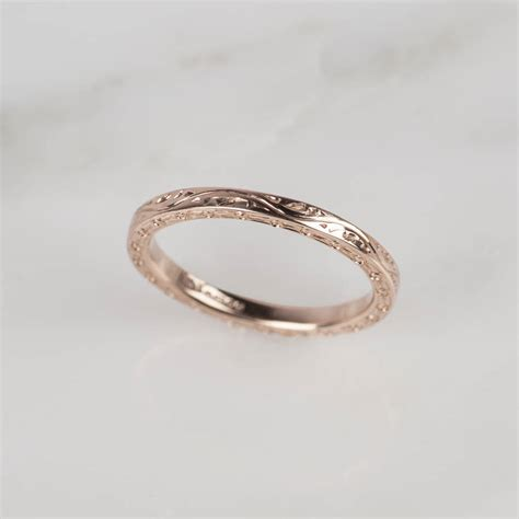 9ct gold engraved ring by kirsty jewellery