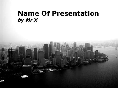Air Photograph Of Skyscrapers City Powerpoint Template City Powerpoint Template