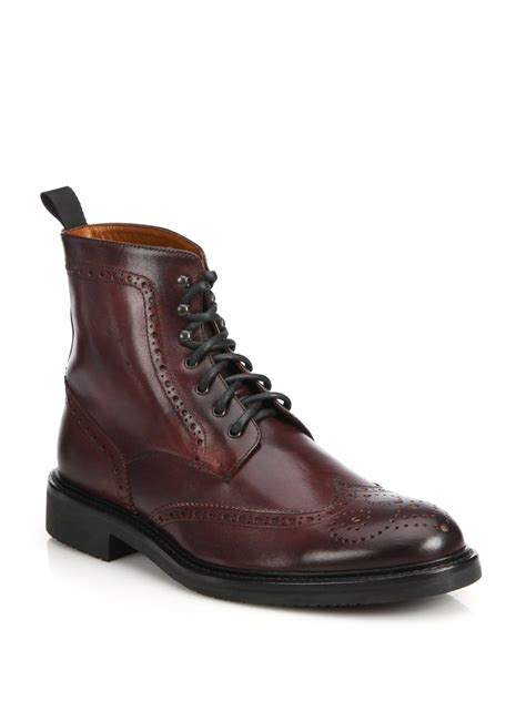 Leather Wingtip Boots wingtip boots 28 images saks fifth avenue wingtip