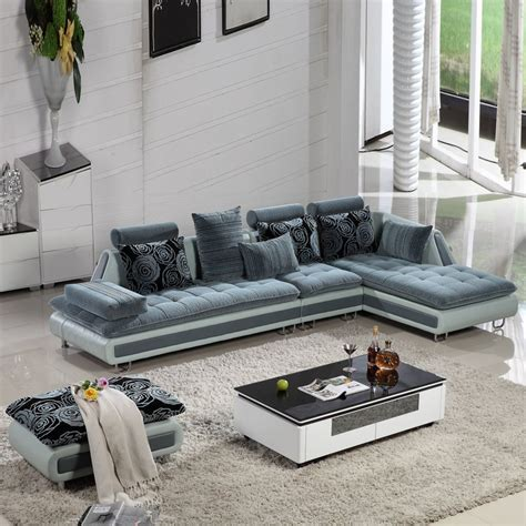 Living Room With L Shaped Sofa Sofa Set Living Room Furniture Aisenbaobu Sofa Leather Sofa Combination Corner L Shaped Living