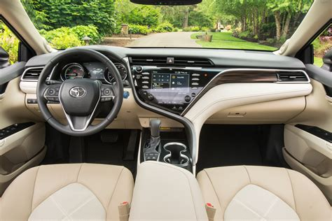 interior camry 2018 2018 toyota camry xle hybrid front interior the green