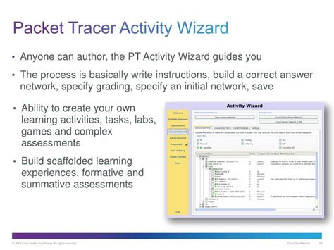 cisco packet tracer activity wizard tutorial ppt cisco packet tracer overview powerpoint presentation