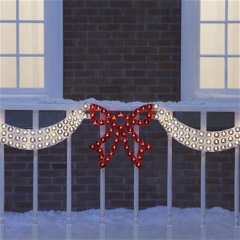 christmas led swag lights with bows 3d dazzling lighted swag bow from seventh avenue dk70717