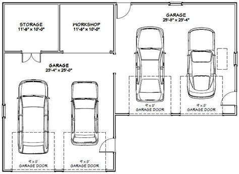 4 car garage size car garage building plans online 14342