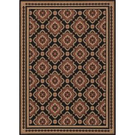 Hton Bay Indoor Outdoor Rugs Hton Bay And Black All 5 Ft 3 In X 7 Ft 4 In Indoor Outdoor Area Rug 3174 81 51