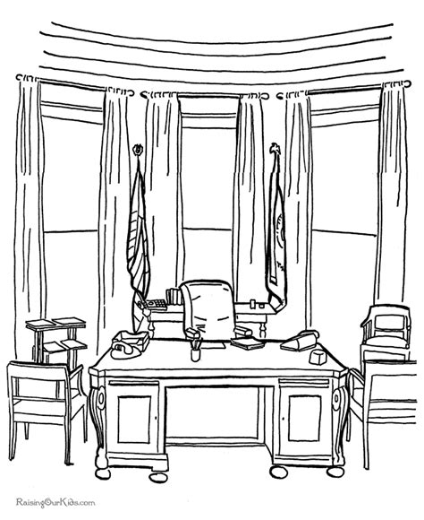 the oval office coloring page 003
