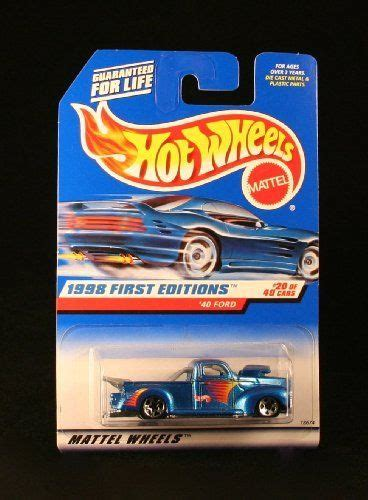 1998 Wheels Editions 2 Sideout Blue Car On Card 40 ford blue w thailand base 1998 editions