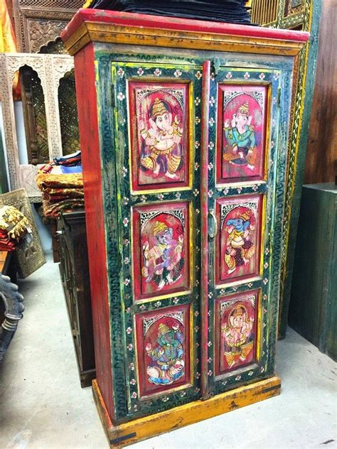 hand painted indian cabinets indian storage armoire furniture from amazon antique