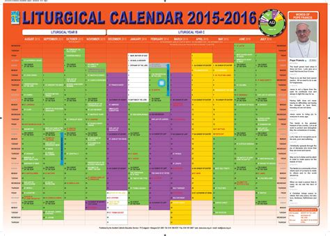 Episcopal Liturgical Calendar 2015 Catholic Liturgical Calendar Go Search For Tips