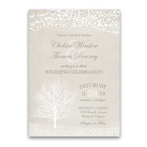 Unique Winter Wedding Invitations by Winter Wedding Archives Noted Occasions Unique And