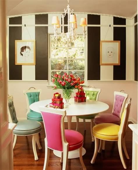 decor du jour mismatched dining chairs