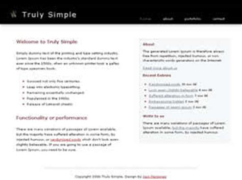 Truly Simple Free Website Template Free Css Templates Free Css Simple Css Templates