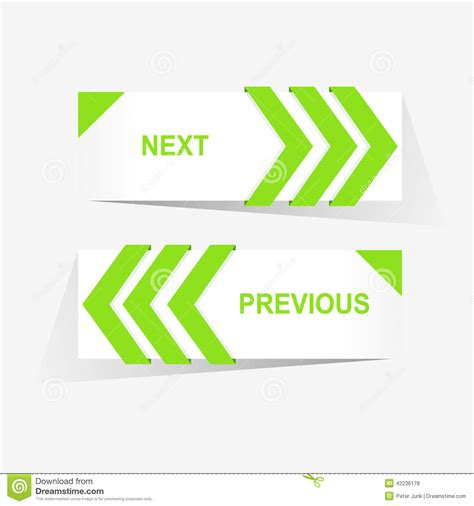 previous next vector previous and next navigation buttons for custom web
