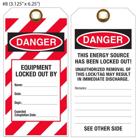 Custom Printed Lockout Tagout Osha Hang Tags St Louis Tag Lock Out Tags Template
