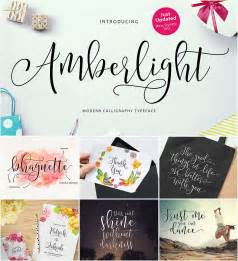 Introducing amberlight script with a sweet calligraphy style