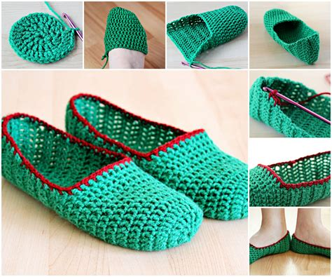 crochet diy creative diy simple crochet slippers