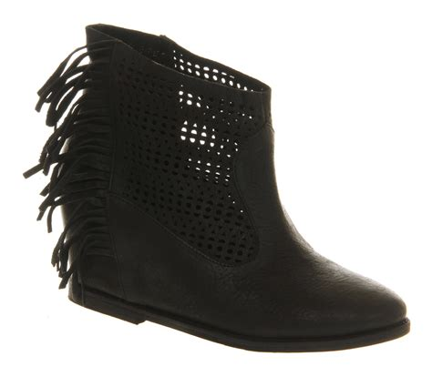 Black Master Boots Laskar Size 39 44 friis co gelika wedge boots black leather ankle boots