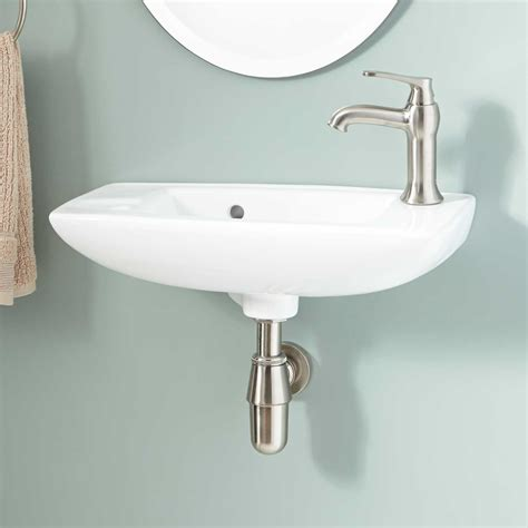 Signature Hardware Belvidere Porcelain Wall Mount Bathroom Bathroom Sink Hardware