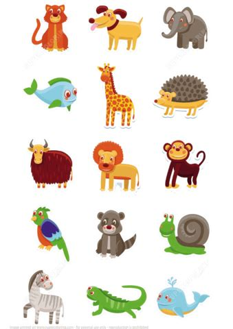 printable paper animals free printable animal pictures animals printable stickers