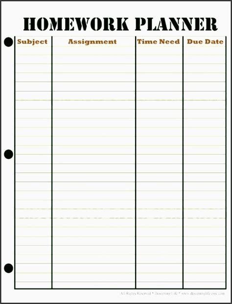 10 Assignment Daily Planner Template Sletemplatess Sletemplatess Stay Template