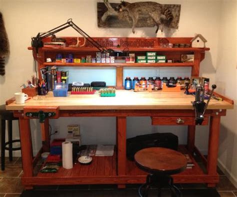 gun reloading bench reloading bench by american workbench bonus room ideas