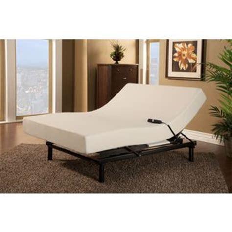 shop sleep zone loft single motor adjustable bed with size visco memory foam mattress