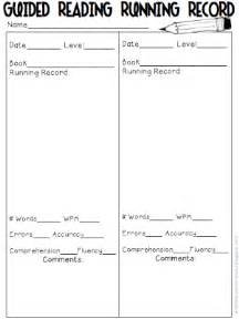 Running Record Template by What The Wants Guided Reading Galore