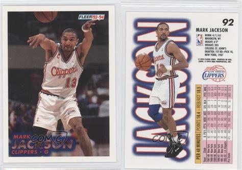 mark jackson rookie card 1993 94 fleer 92 mark jackson los angeles clippers