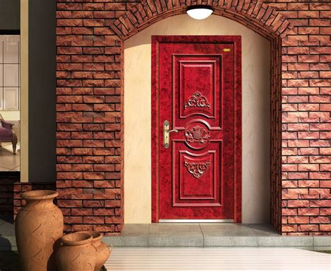 outside brick wall designs front door 3d house