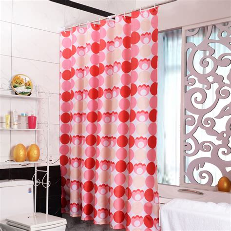 novelty curtains red novelty circles geometric extra wide shower curtains