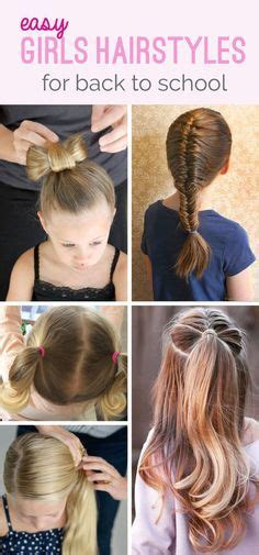 quick and easy back to school doll hairstyles half up half down hair little girl hairstyles little