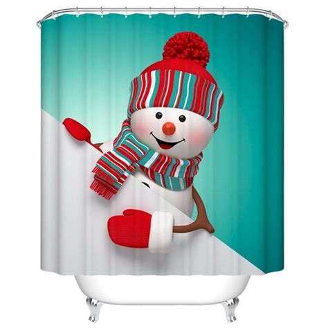 santa suit shower curtain best 25 christmas shower curtains ideas on pinterest