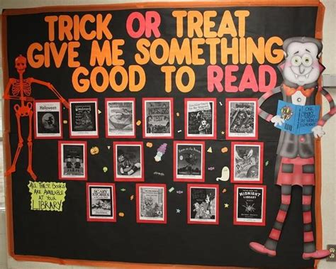 halloween reading themes 33 best fall bulletin boards images on pinterest library