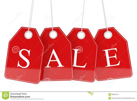 White Sale by Sale Tags Isolated Royalty Free Stock Photo Image 36331315