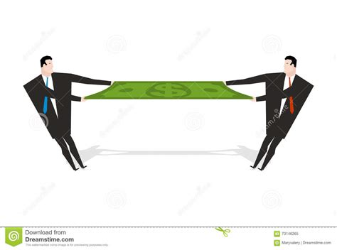 people section businessman share profits stock vector image 70146265