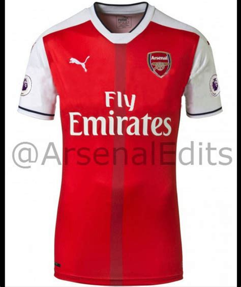 arsenal home kit image 2 arsenal s leaked home kit for 2016 17 sport