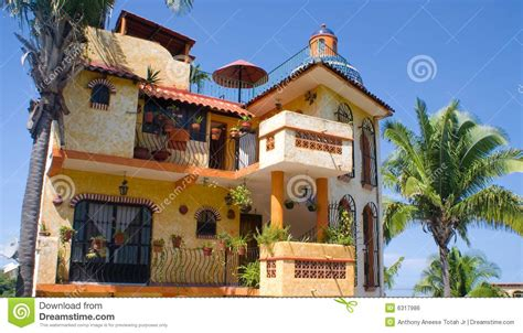 Adobe Style House Plans mexican architecture royalty free stock image image 6317986